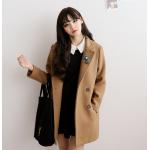 ไซส์ M : เสื้อโค้ทกันหนาว ทรงเรียบง่าย ผ้าวูลเนื้อดี บุซับในกันลม จะใส่คลุม หรือใส่เป็นโค้ทก็สวยเก๋ พร้อมส่งจ้า