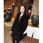 M : เสื้อโค้ทกันหนาวไซส์ใหญ่ สไตล์เกาหลี ทรงสวย Classic ผ้าสำลีบุซับในกันลม สีดำ พร้อมส่ง