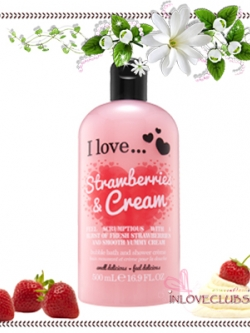 I Love... / Bubble Bath & Shower 500 ml. (Strawberries & Cream)