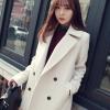 L : CLASSIC WHITE COAT [ เสื้อโค้ท กันหนาว สีขาว ] พร้อมส่ง