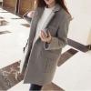 Size M : เสื้อโค้ทกันหนาว สไตล์เกาหลี ทรงสวย Classic ผ้าสักกะหลาด เนื้อไม่หนามาก บุซับในกันลม ใส่แบบตั้งปกขึ้นก็เก๋ สีเทา พร้อมส่ง