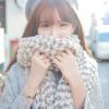 ผ้าพันคอกันหนาว ไหมพรม เกาหลี สีขาวแซมดำ น่ารักคุณหนู พร้อมส่ง