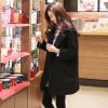 M : เสื้อโค้ทกันหนาว สีดำ ทรงสวย ใส่ได้หลายแบบ ผ้าดีบุซับในกันลม