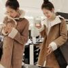 SIZE L : เสื้อโค้ทกันหนาว เนื้อผ้าคล้ายๆหนังกลับ แต่งขนแกะ ดูดี อุ่นมากกกก แบบเก๋สุดๆ พร้อมส่งเลยจ้า