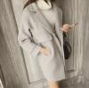 สีเทาอ่อน XL : เสื้อโค้ทกันหนาว ทรงสวย