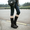 Size 37 : Boots รองเท้าบูท หนังสีดำแบบยาว เสริมส้นด้านใน บุขนแกะอุ่นและนุ่มมาก งานดีเหมือนแบบค่ะ
