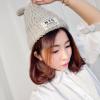 สีเทาอ่อนครีม : หมวกไหมพรม ทรงยอดฮิต หลากสี เกาหลีสุดๆ