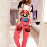พร้อมส่ง - ชุดเอี๊ยม jumpsuit Super Mario เอวยืด พร้อมสายเอี๊ยมแบบถอดได้