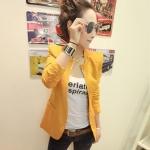 พร้อมส่ง - สีเหลือง เสื้อสูท เก๋ๆ ทรงสวย