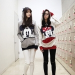 พร้อมส่ง - เสื้อกันหนาวฮู้ดดี้ มินนี่เมาส์ มิกกี้เมาส์ ผ้าไม่หนา ใส่คลุมในวันสบายๆ แฟชั่นเกาหลี น่ารัก