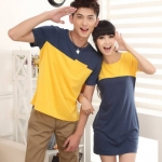 ชุดคู่รักเกาหลี พร้อมส่ง เหลืองกรม น่ารัก ราคา/คู่