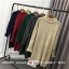 Sweater สีกรมเข้ม เสื้อไหมพรมถักคอตั้งตัวยาว ใส่ตัวเดียวเป็นเดรสได้เลย เก๋ๆ ไหมพรมนุ่มยืดได้เยอะ thumbnail 10
