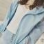 เสื้อคลุมกันลม คอตั้ง ผ้าโพลิ สีน่ารัก ใส่ออกกำลังกายน่ารักมากๆ thumbnail 3