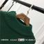 Sweater สีเขียว เสื้อไหมพรมถักคอตั้งตัวยาว ใส่ตัวเดียวเป็นเดรสได้เลย เก๋ๆ ไหมพรมนุ่มยืดได้เยอะ thumbnail 3