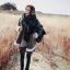 ผ้าพันคอกันหนาว ไหมพรม เกาหลี สีดำแซมขาว น่ารักคุณหนู พร้อมส่ง thumbnail 6