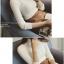 เสื้อแขนยาวขอตั้ง ผ้ามีลายในตัว ไม่หนา พร้อมส่ง thumbnail 4