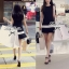 พร้อมส่ง - Dorothy Little Black Dress Pleats Trim Size M : มินิเดรสสีดำตัดขอบขาวที่กระโปรง thumbnail 5