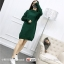 Sweater สีเขียว เสื้อไหมพรมถักคอตั้งตัวยาว ใส่ตัวเดียวเป็นเดรสได้เลย เก๋ๆ ไหมพรมนุ่มยืดได้เยอะ thumbnail 5