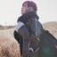 ผ้าพันคอกันหนาว ไหมพรม เกาหลี สีดำแซมขาว น่ารักคุณหนู พร้อมส่ง thumbnail 3
