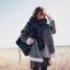 ผ้าพันคอกันหนาว ไหมพรม เกาหลี สีดำแซมขาว น่ารักคุณหนู พร้อมส่ง thumbnail 1