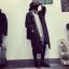 เสื้อโค้ทกันหนาว สไตล์เกาหลี ตัวโคล่ง สีดำ ผ้าสำลีเนื้อไม่หนามาก บุซับในกันลม ใครชอบแนวๆ แนะนำตัวนี้เลยจ้า thumbnail 6
