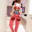 ชุดเอี๊ยม สีชมพู jumpsuit Super Mario เอวยืด พร้อมสายเอี๊ยมแบบถอดได้ น่ารักมากๆ thumbnail 1