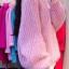 Sweater เสื้อไหมพรมถัก มีประกายวิ้งๆ ในตัว สีชมพู ใส่ตัวเดี๋ยวได้เลยเก๋ๆ ยืดได้เยอะ น่ารักมากจ้าา thumbnail 6