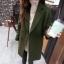 เสื้อโค้ทกันหนาว สไตล์เกาหลี ทรงเรียบง่าย ทรงยาว ดูดี ผ้าวูลผสมบุซับในกันลม จะใส่คลุม หรือใส่เป็นโค้ทก้สวยเก๋ พร้อมส่งจ้า thumbnail 1