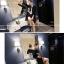 เสื้อคลุมสไตล์เกาหลี สีดำแต่งลายสกรีน ทรงยาว น่ารัก พร้อมส่งจ้า thumbnail 2