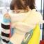 ผ้าพันคอกันหนาว ไหมพรม เกาหลี สีขาว เข้าได้กับทุกชุด พร้อมส่ง thumbnail 1