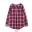 เสื้อผ้าแฟชั่นสไตส์เกาหลี เสื้อแขนยาว พร้อมส่ง ด้านหน้าสีเทา ด้านหลังแต่งลายสก็อตสีโทนแดงน้ำเงิน thumbnail 9