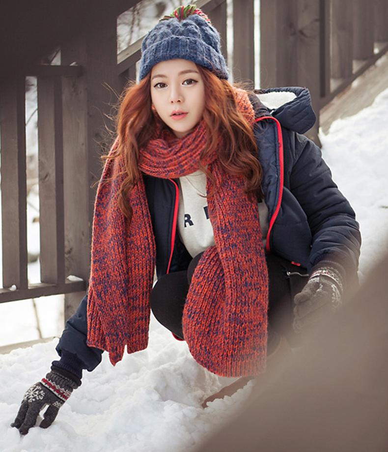 ผ้าพันคอ ไหมพรม เกาหลี มิกกับชุดไหนก็สวย พร้อมส่ง