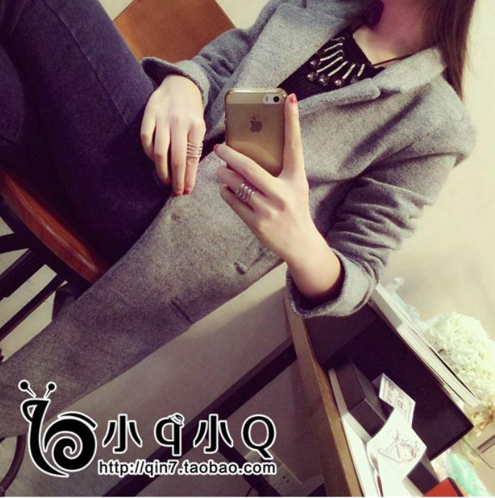เสื้อโค้ทกันหนาว ทรงยาว ผ้าเนื้อละเอียด ไม่หนามาก บุซับในกันลม เรียบ เก๋ๆ สีเทา พร้อมส่ง